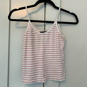 BRANDY MELVILLE red and white striped tank